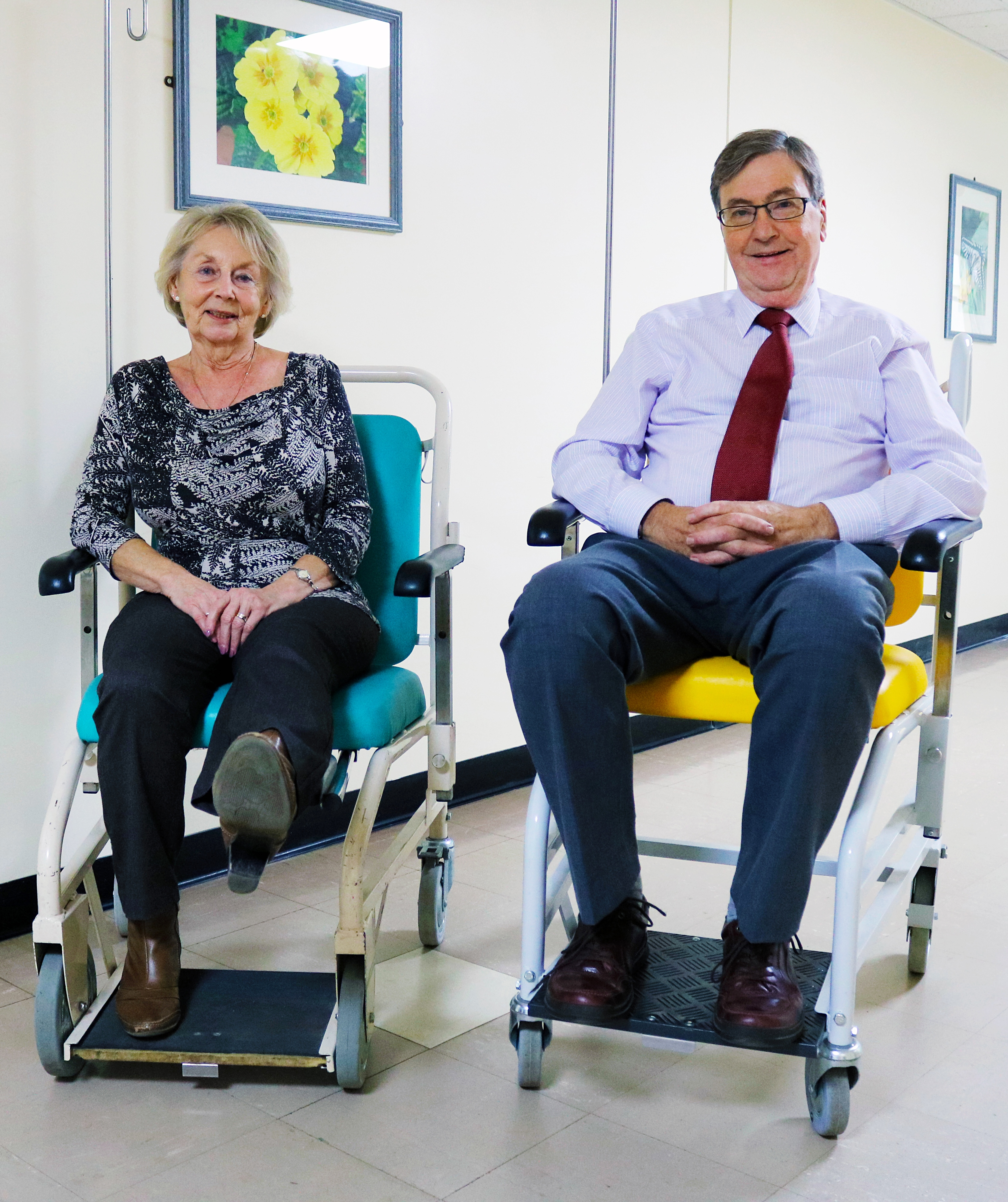 Older patients using wheelchairs