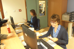 Our Outpatients receptionists