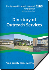 Front cover of the digital Outreach Services Directory