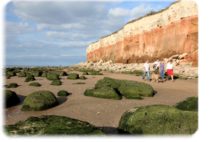 The cliffs at Old Hunstanton