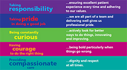 Our values - Compassion, Courage, Curiosity and Pride