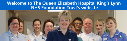 Welcome to the Queen Elizabeth Hospital NHS Foundation Trust Website - image of nursing staff