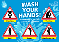 Wash your hands graphic